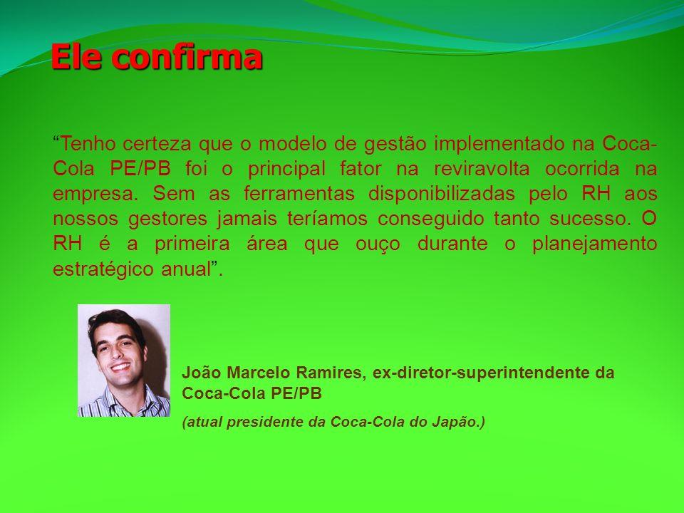 Tenho certeza que o modelo de gestão implementado na Coca- Cola PE/PB foi o principal fator na reviravolta ocorrida na empresa. Sem as ferramentas dis
