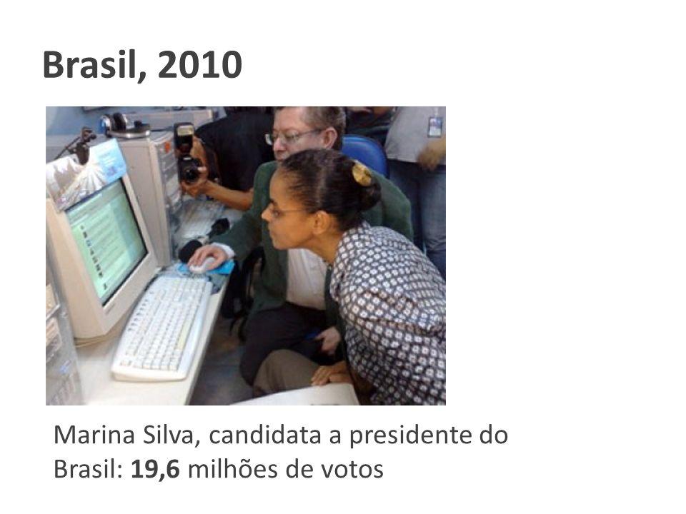 Marina Silva, candidata a presidente do Brasil: 19,6 milhões de votos Brasil, 2010