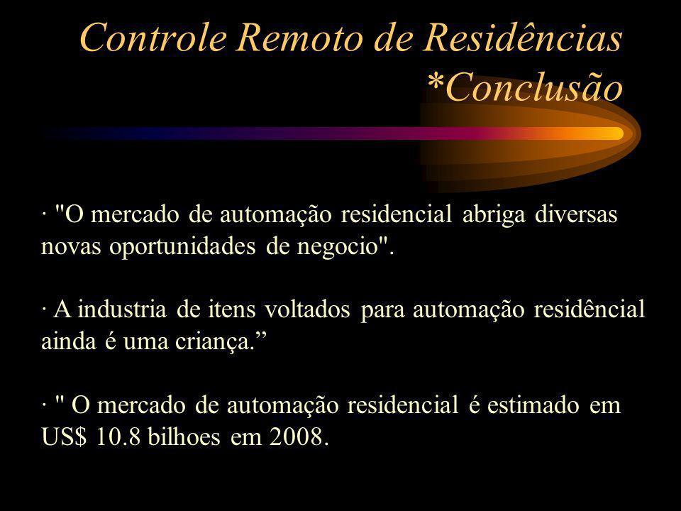 Controle Remoto de Residências *Conclusão ·