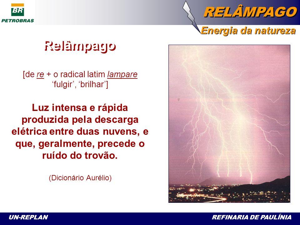 UN-REPLAN REFINARIA DE PAULÍNIA RELÂMPAGO Energia da natureza A partir de um estudo desenvolvido por diversas áreas da UN-Replan, foi produzida esta apresentação sobre descargas atmosféricas - os relâmpagos.
