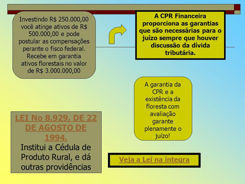 CRÉDITO E DESÁGIO O valor ofertado em deságio para fins de transferência dos direitos de crédito é de 50%. A empresa cedente para garantir a utilizaçã