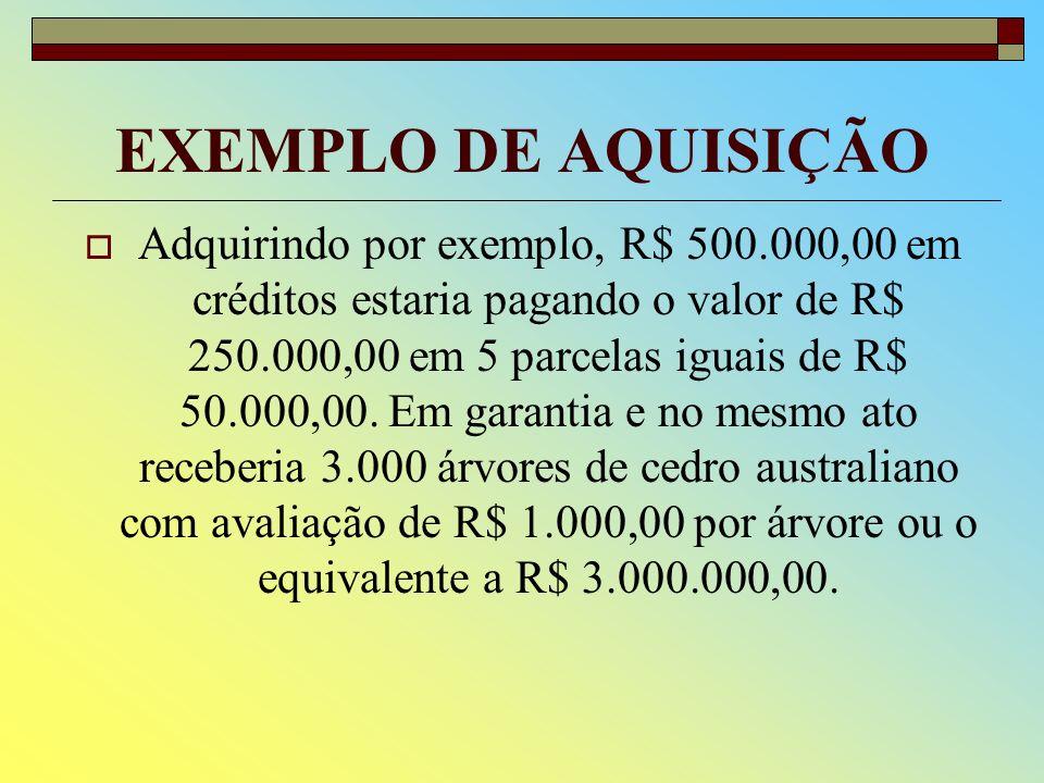 ATIVOS FLORESTAIS AVALIADOS A garantia colateral é representada por ativos florestais avaliados e com adicional garantia de CPR-Financeira.