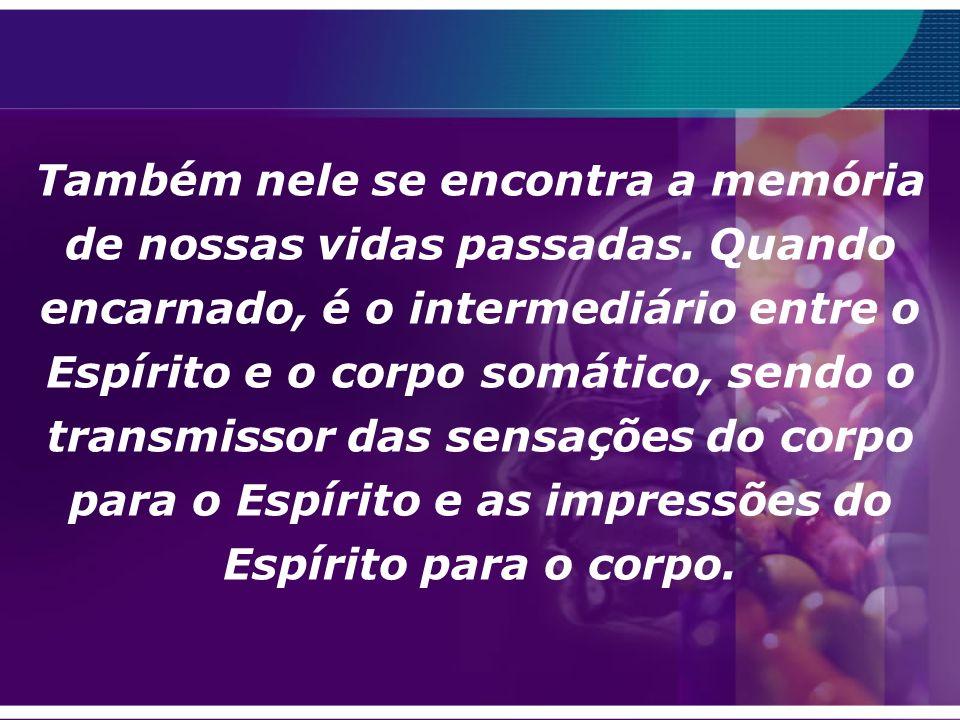 Perispírito (Mediunidade: O Plugue do Milênio – Déa Berttran) O Perispírito é o veiculo do sentimento, das emoções, irradiando o que o Espírito é em e