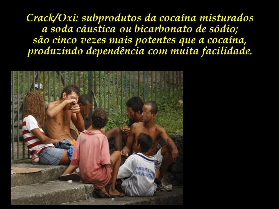 Crianças e adolescentes ao relento e expostos às mazelas e durezas da vivência de rua, que ontem cheiravam cola, hoje se tornaram escravos de drogas m