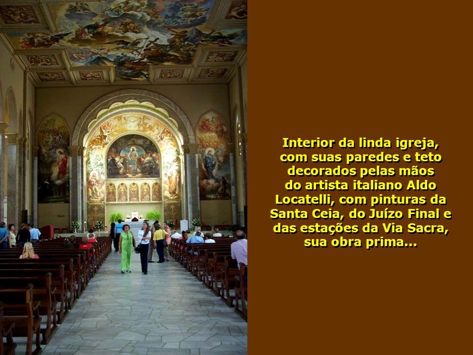 A bela igreja de São Pelegrino, em Caxias do Sul, cidade localizada a 130km de Porto Alegre, com população aproximada de 400 mil habitantes...