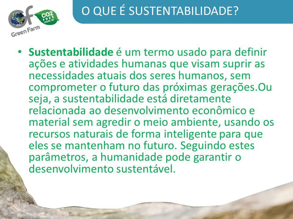 O primeiro, AMBIENTAL, diz respeito à manutenção do ecossistema em longo prazo.