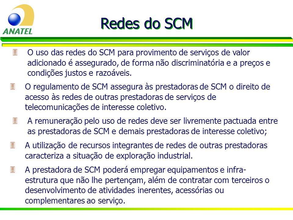 3O uso das redes do SCM para provimento de serviços de valor adicionado é assegurado, de forma não discriminatória e a preços e condições justos e raz