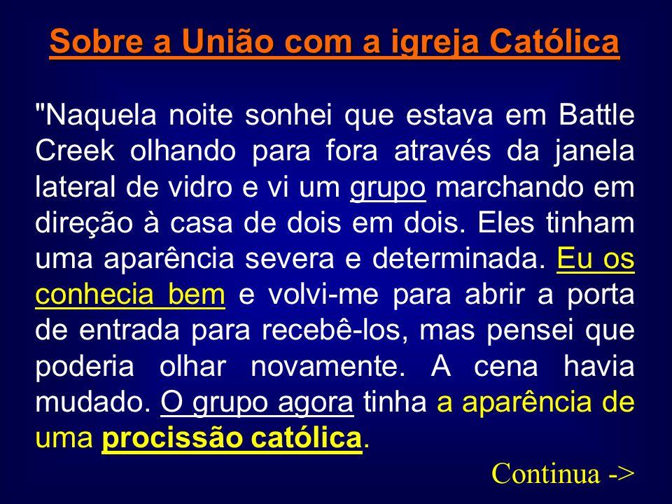 Sobre a União com a igreja Católica