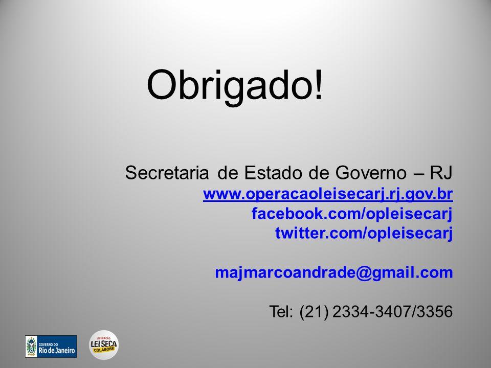Obrigado! Secretaria de Estado de Governo – RJ www.operacaoleisecarj.rj.gov.br facebook.com/opleisecarj twitter.com/opleisecarj majmarcoandrade@gmail.