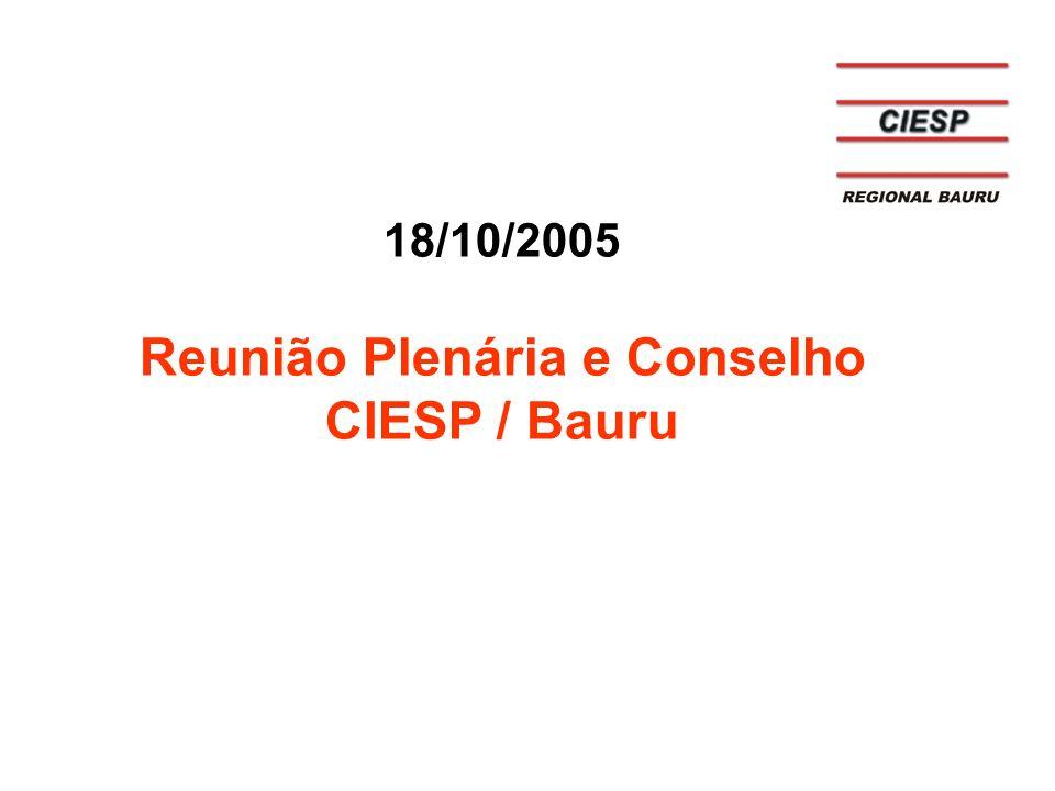18/10/2005 Reunião Plenária e Conselho CIESP / Bauru