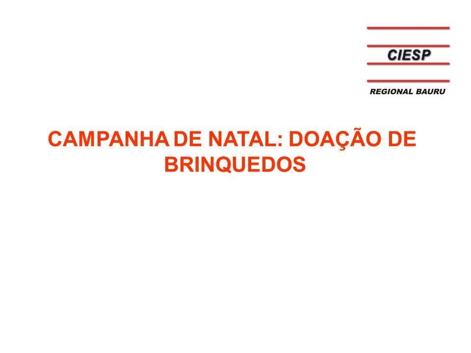 CAMPANHA DE NATAL: DOAÇÃO DE BRINQUEDOS