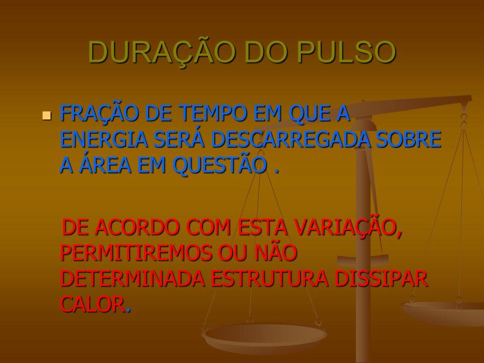 FLUÊNCIA QUANTIDADE DE ENERGIA DESCARREGADA EM UMA UNIDADE DE ÁREA,EM UM ÚNICO PULSO.
