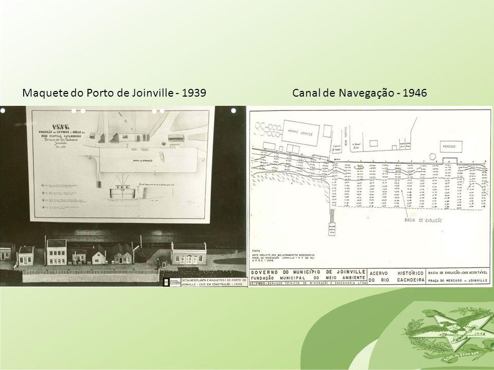Maquete do Porto de Joinville - 1939Canal de Navegação - 1946