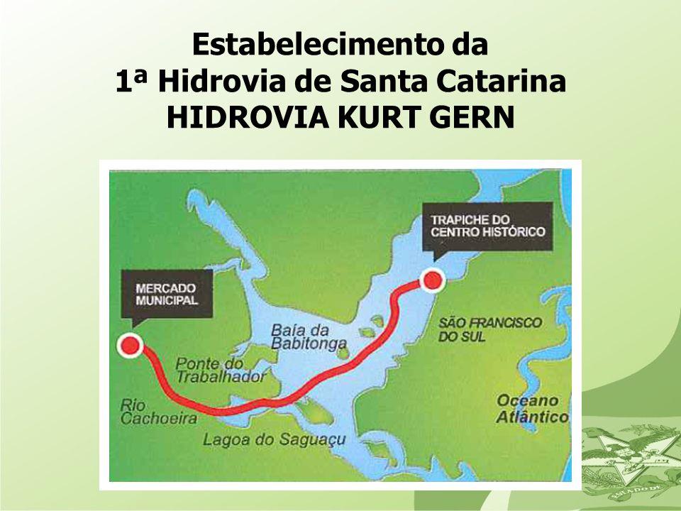 Estabelecimento da 1ª Hidrovia de Santa Catarina HIDROVIA KURT GERN