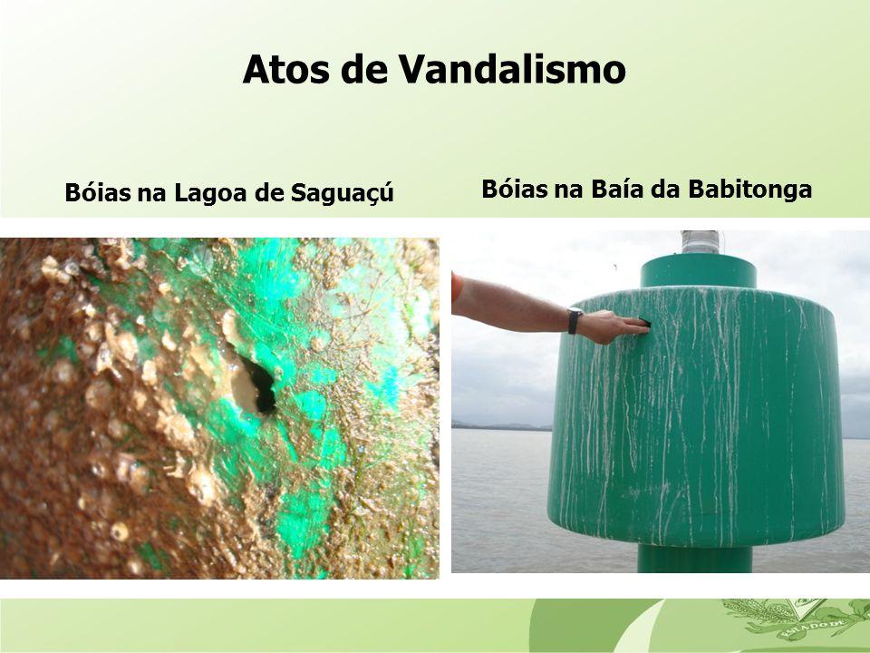 Atos de Vandalismo Bóias na Lagoa de Saguaçú Bóias na Baía da Babitonga