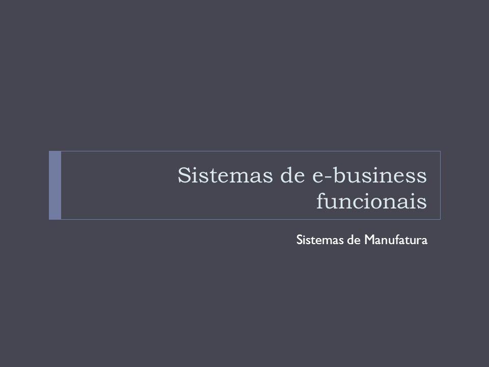 Sistemas de Informação de Manufatura (SIM) Os sistemas de informação de manufatura apoiam a função de produção e operações, nos quais se incluem todas as atividades relativas ao planejamento e controle dos processos de produção de bens e serviços.