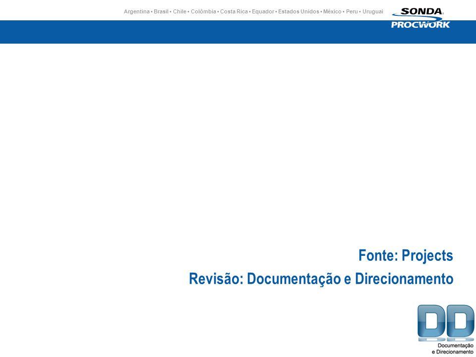 Argentina Brasil Chile Colômbia Costa Rica Equador Estados Unidos México Peru Uruguai Fonte: Projects Revisão: Documentação e Direcionamento