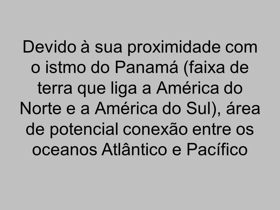 Devido à sua proximidade com o istmo do Panamá (faixa de terra que liga a América do Norte e a América do Sul), área de potencial conexão entre os oce
