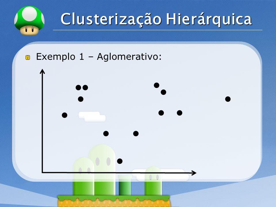 LOGO Clusterização Hierárquica Exemplo 1 – Aglomerativo: