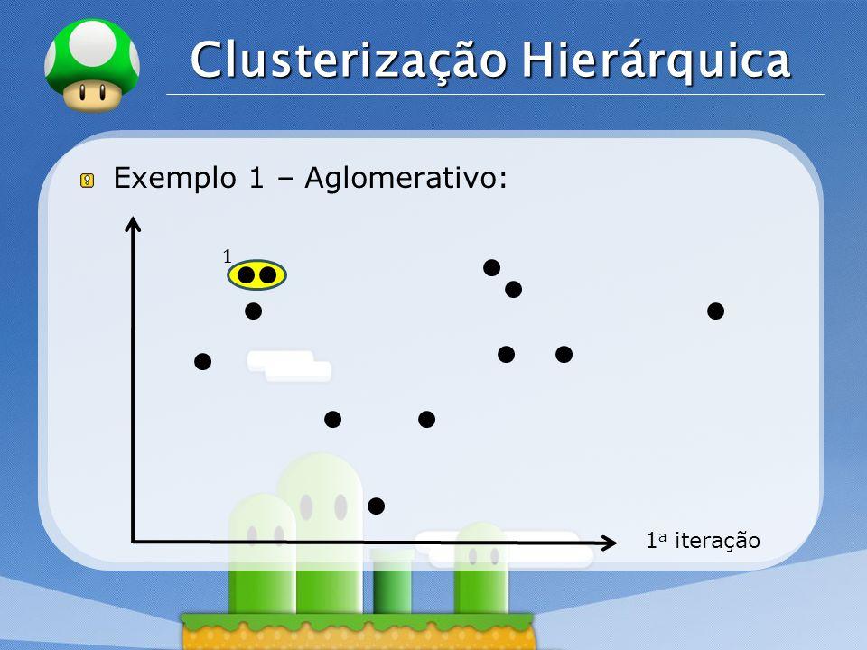 LOGO Clusterização Hierárquica Exemplo 1 – Aglomerativo: 1 a iteração 1