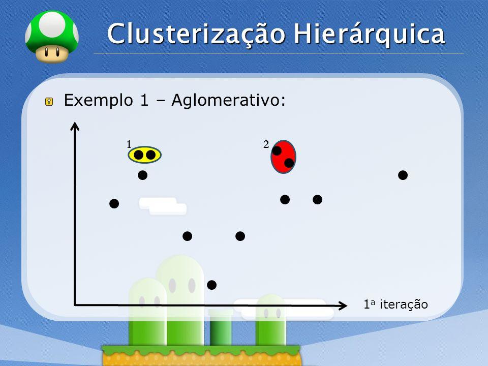 LOGO Clusterização Hierárquica Exemplo 1 – Aglomerativo: 1 a iteração 12