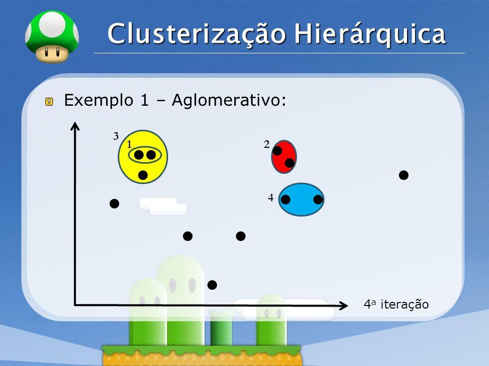 LOGO Clusterização Hierárquica Exemplo 1 – Aglomerativo: 4 a iteração 12 3 4