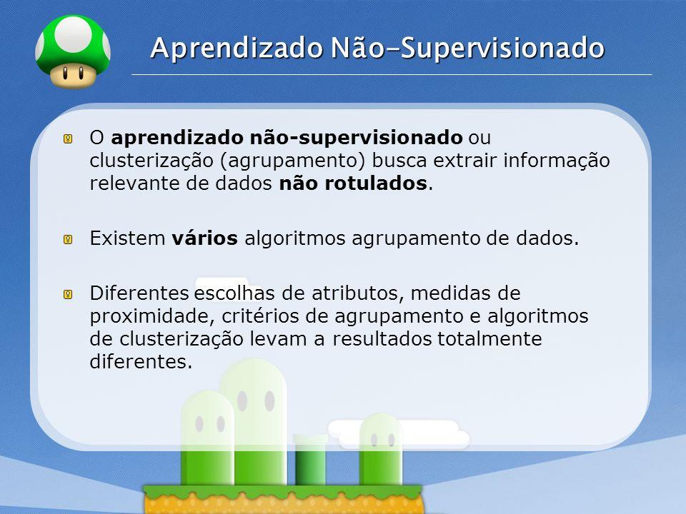 LOGO Aprendizado Não-Supervisionado O aprendizado não-supervisionado ou clusterização (agrupamento) busca extrair informação relevante de dados não ro