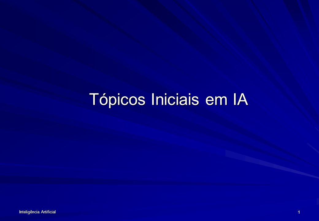 Inteligência Artificial 11 DESAFIOS DA IA Comunicação e Percepção: –Linguagem Natural, –Visão, –Manipulação.