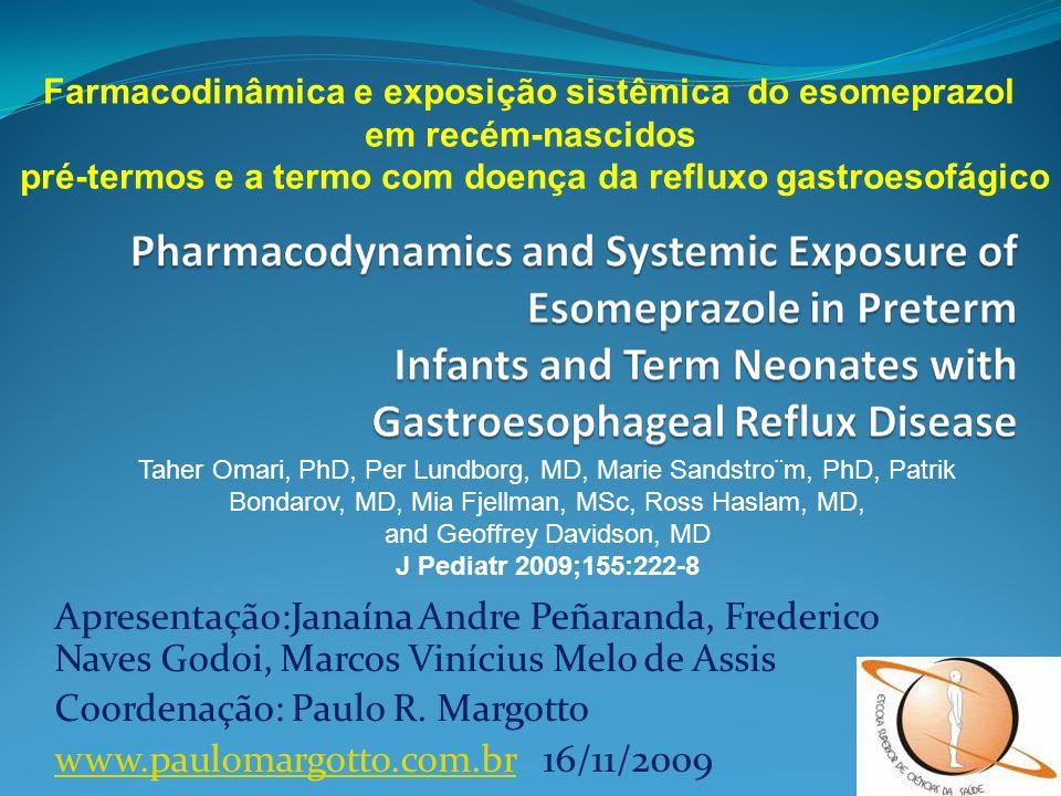 Apresentação:Janaína Andre Peñaranda, Frederico Naves Godoi, Marcos Vinícius Melo de Assis Coordenação: Paulo R. Margotto www.paulomargotto.com.brwww.