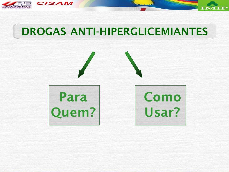 Para Quem? Como Usar? DROGAS ANTI-HIPERGLICEMIANTES