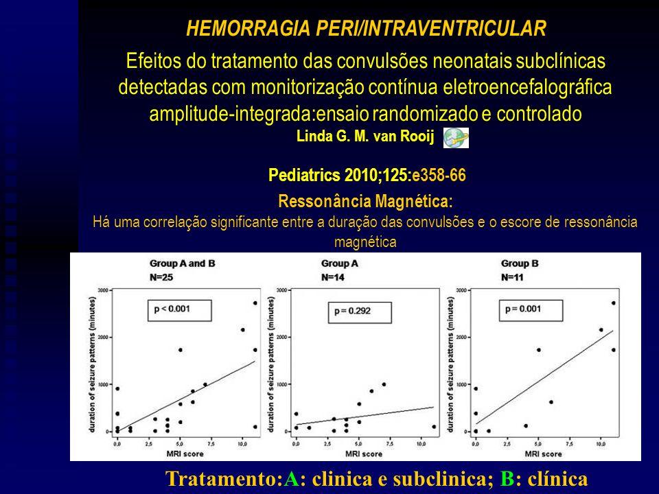 Efeitos do tratamento das convulsões neonatais subclínicas detectadas com monitorização contínua eletroencefalográfica amplitude-integrada:ensaio randomizado e controlado Linda G.