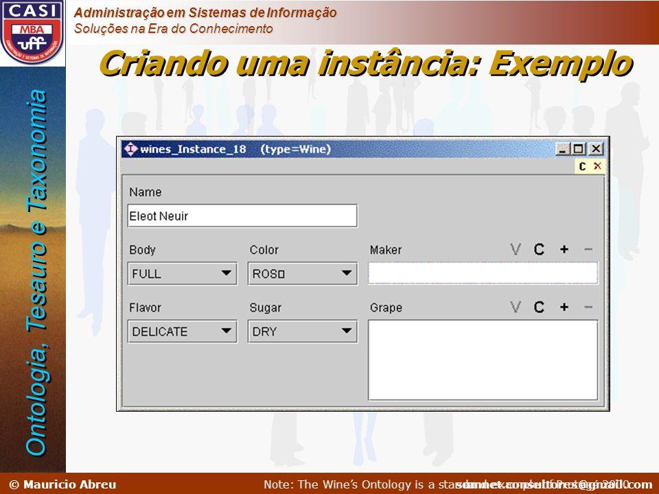 sumnet@microlink.com.br © Mauricio Abreusumnet.consultores@gmail.com Administração em Sistemas de Informação Soluções na Era do Conhecimento Criando u
