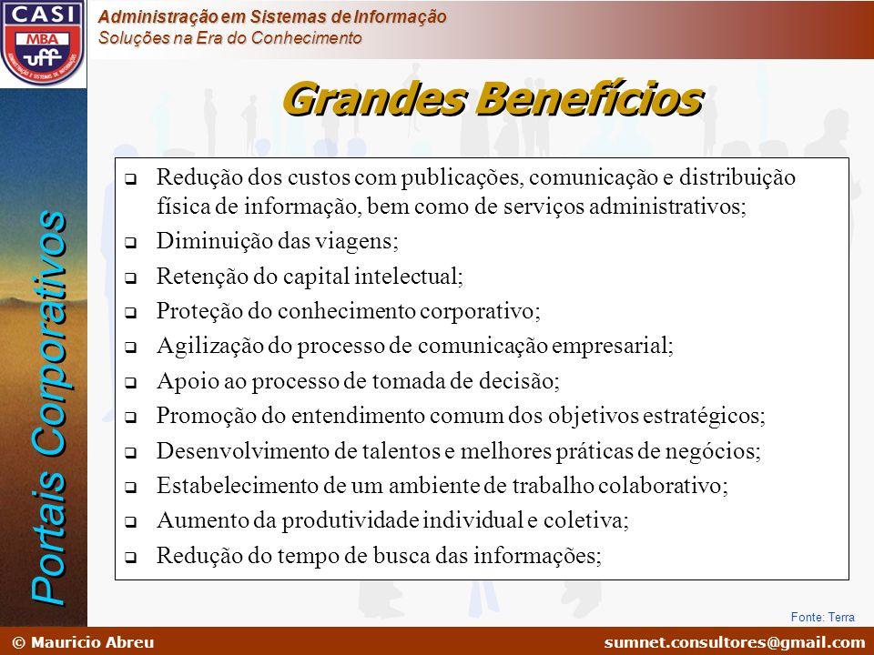 sumnet@microlink.com.br © Mauricio Abreusumnet.consultores@gmail.com Administração em Sistemas de Informação Soluções na Era do Conhecimento Redução d
