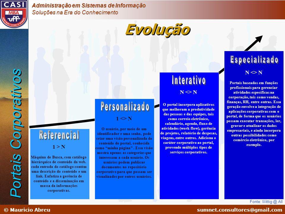 sumnet@microlink.com.br © Mauricio Abreusumnet.consultores@gmail.com Administração em Sistemas de Informação Soluções na Era do Conhecimento Fonte: Wi