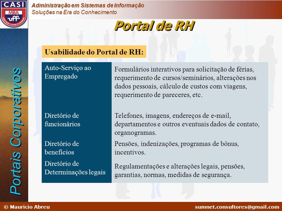 sumnet@microlink.com.br © Mauricio Abreusumnet.consultores@gmail.com Administração em Sistemas de Informação Soluções na Era do Conhecimento Usabilida