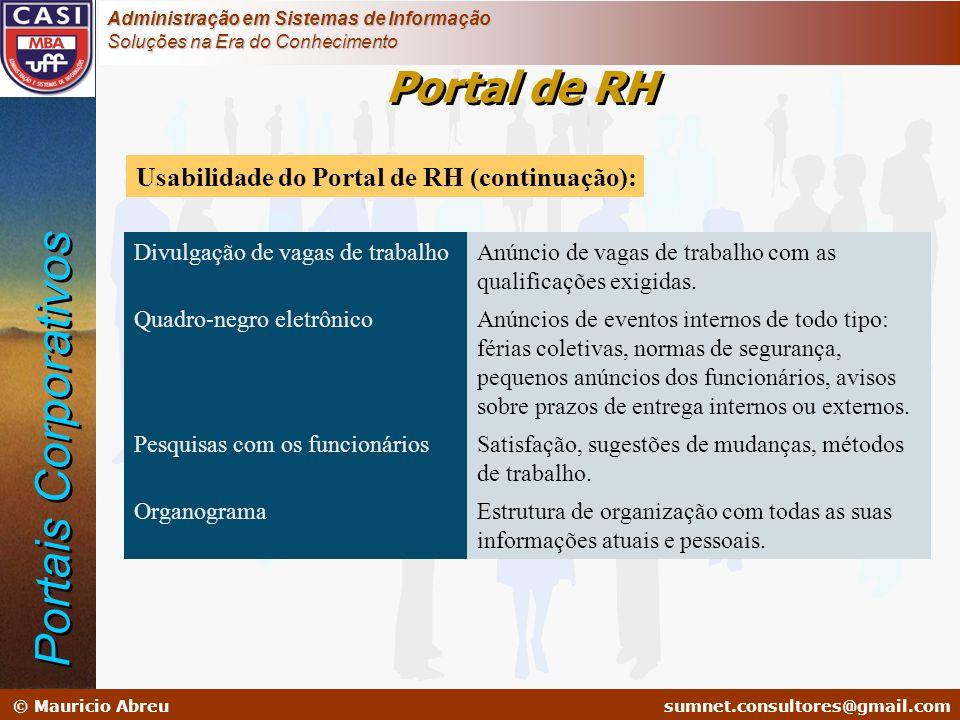 sumnet@microlink.com.br © Mauricio Abreusumnet.consultores@gmail.com Administração em Sistemas de Informação Soluções na Era do Conhecimento Divulgaçã