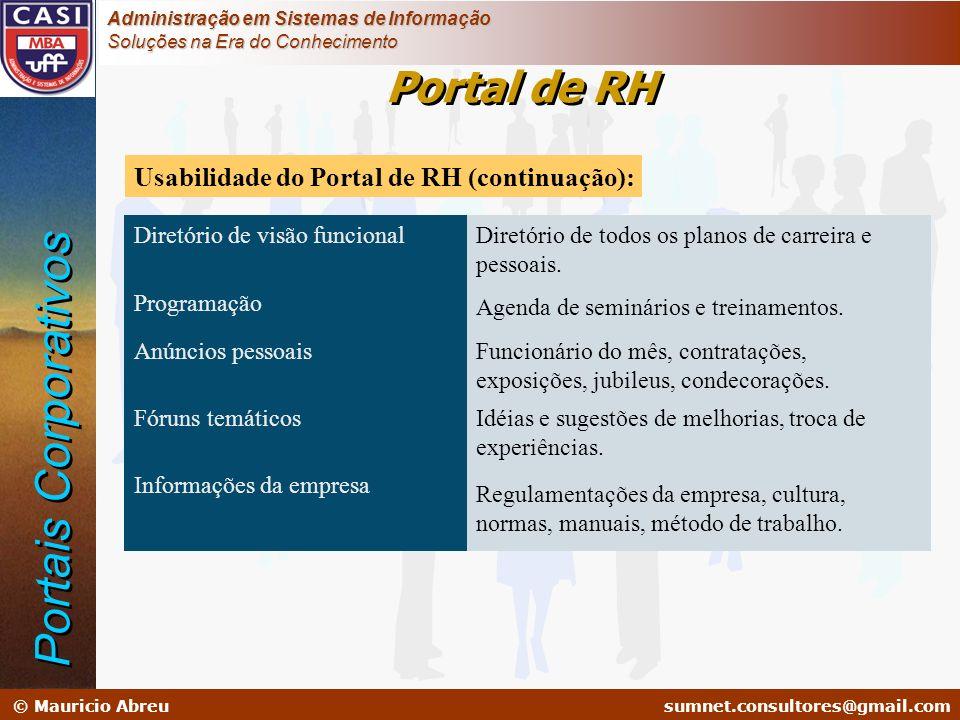 sumnet@microlink.com.br © Mauricio Abreusumnet.consultores@gmail.com Administração em Sistemas de Informação Soluções na Era do Conhecimento Diretório