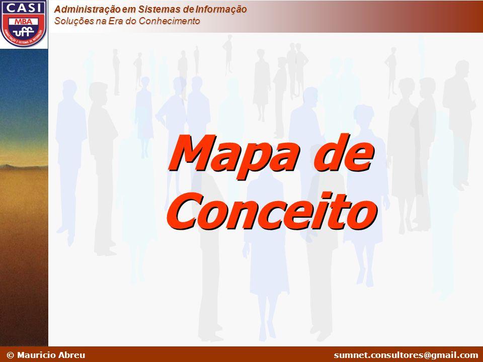 sumnet@microlink.com.br © Mauricio Abreusumnet.consultores@gmail.com Administração em Sistemas de Informação Soluções na Era do Conhecimento Mapa de C
