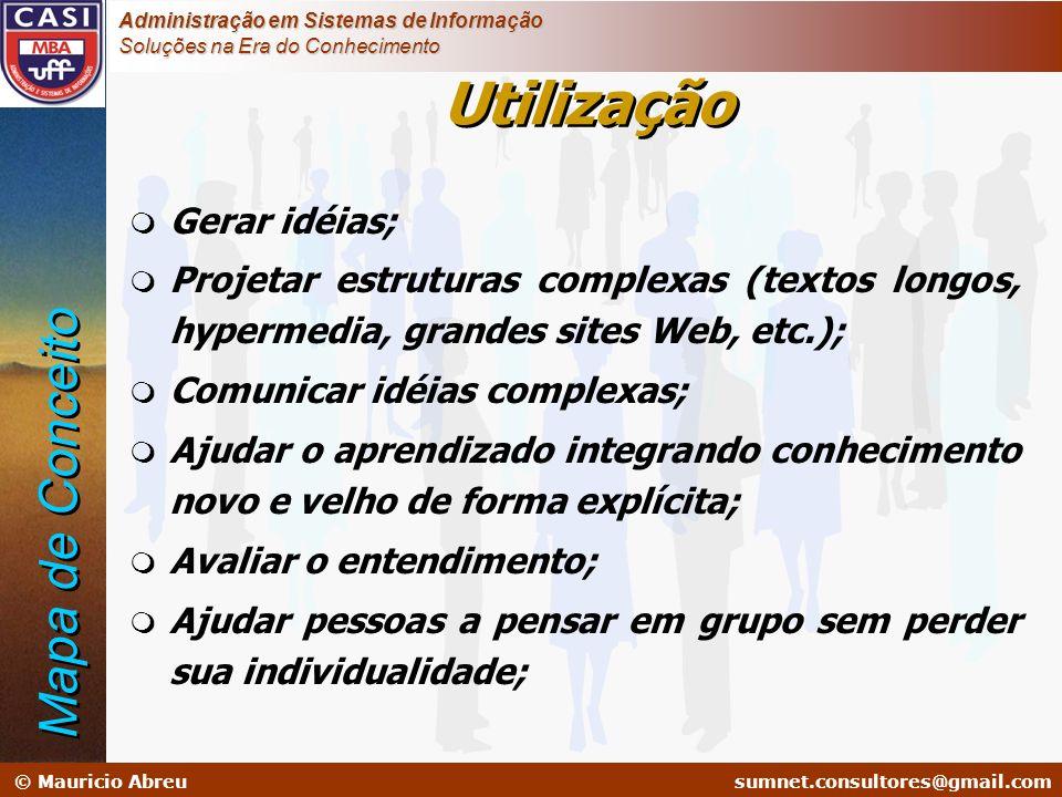 sumnet@microlink.com.br © Mauricio Abreusumnet.consultores@gmail.com Administração em Sistemas de Informação Soluções na Era do Conhecimento m Gerar i
