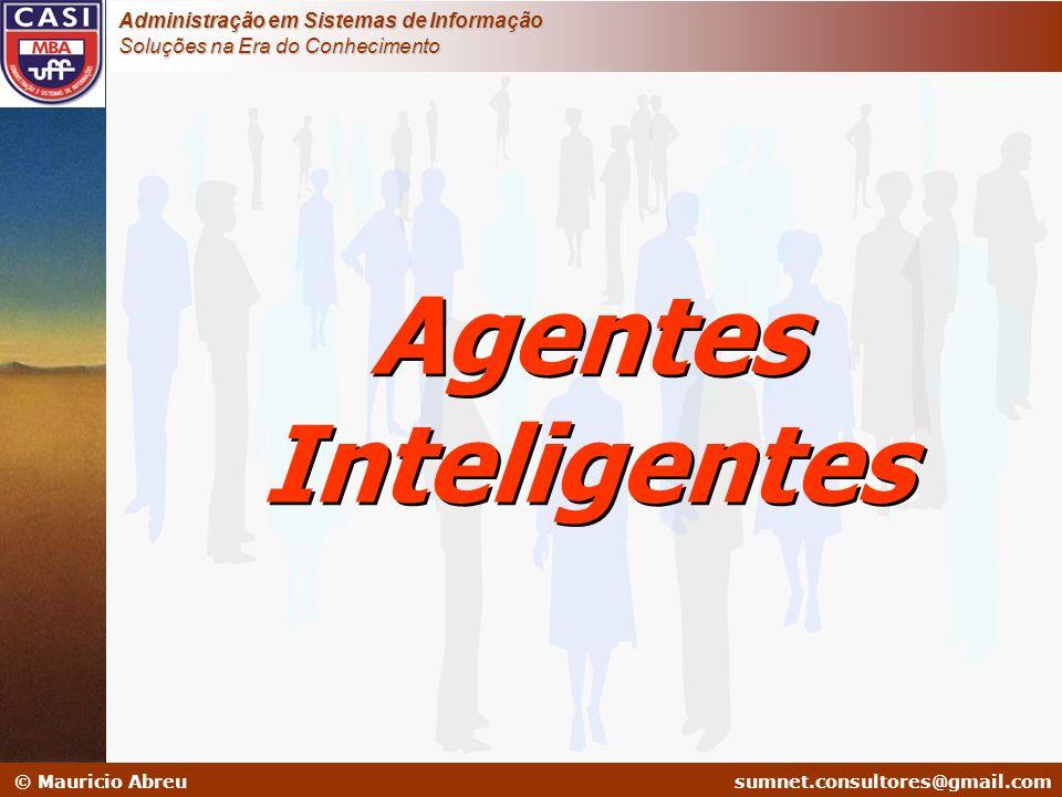 sumnet@microlink.com.br © Mauricio Abreusumnet.consultores@gmail.com Administração em Sistemas de Informação Soluções na Era do Conhecimento Agentes I
