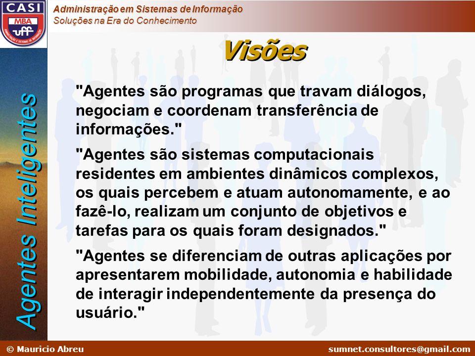 sumnet@microlink.com.br © Mauricio Abreusumnet.consultores@gmail.com Administração em Sistemas de Informação Soluções na Era do Conhecimento