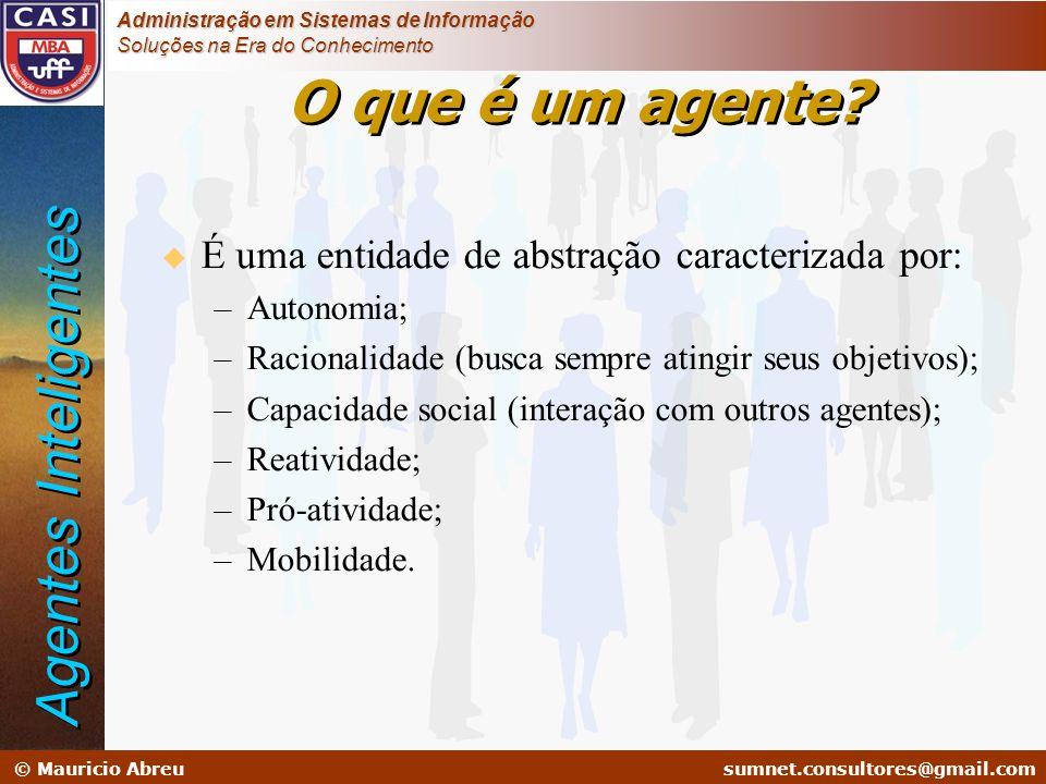 sumnet@microlink.com.br © Mauricio Abreusumnet.consultores@gmail.com Administração em Sistemas de Informação Soluções na Era do Conhecimento O que é u