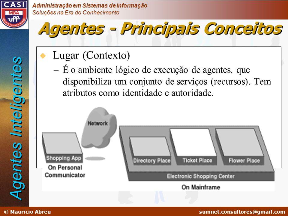 sumnet@microlink.com.br © Mauricio Abreusumnet.consultores@gmail.com Administração em Sistemas de Informação Soluções na Era do Conhecimento Agentes -