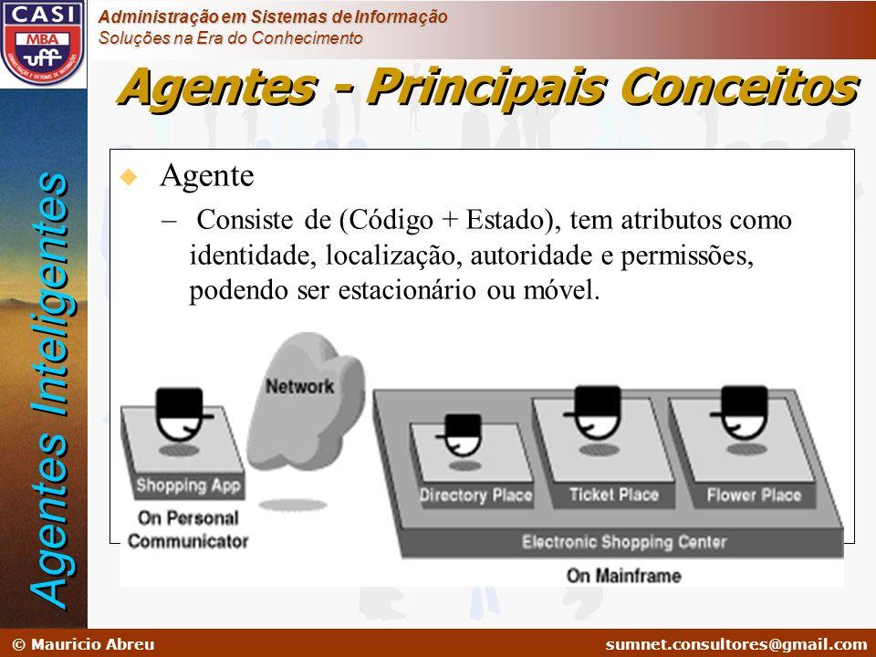 sumnet@microlink.com.br © Mauricio Abreusumnet.consultores@gmail.com Administração em Sistemas de Informação Soluções na Era do Conhecimento u Agente