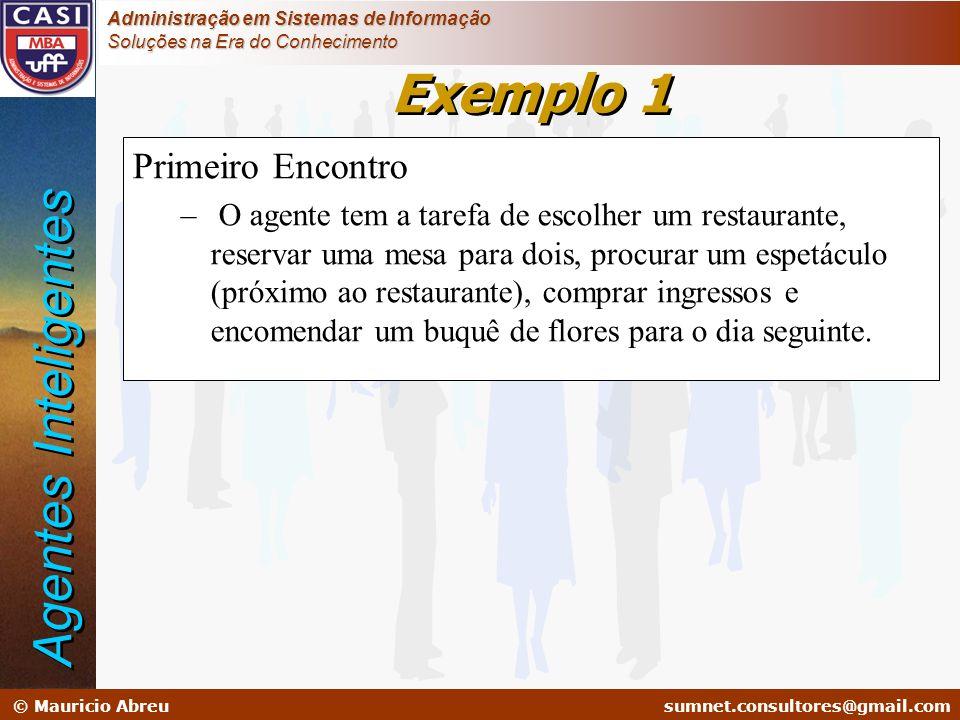 sumnet@microlink.com.br © Mauricio Abreusumnet.consultores@gmail.com Administração em Sistemas de Informação Soluções na Era do Conhecimento Exemplo 1