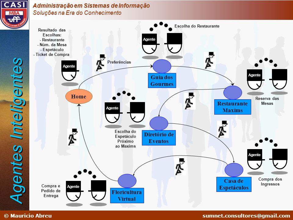 sumnet@microlink.com.br © Mauricio Abreusumnet.consultores@gmail.com Administração em Sistemas de Informação Soluções na Era do Conhecimento Home Agen