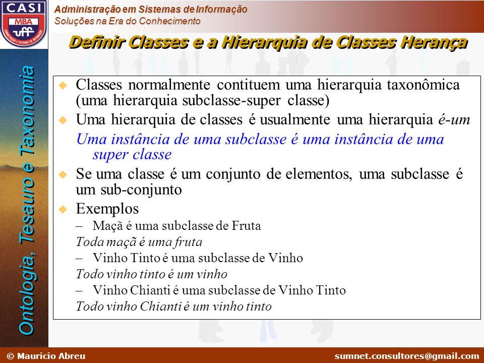 sumnet@microlink.com.br © Mauricio Abreusumnet.consultores@gmail.com Administração em Sistemas de Informação Soluções na Era do Conhecimento Definir C