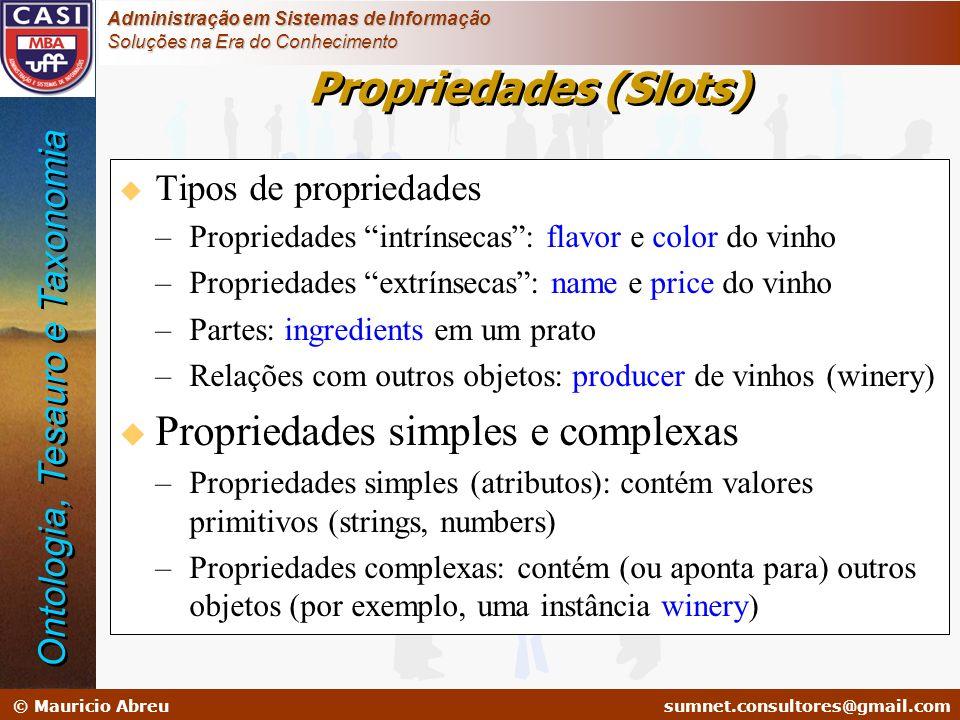 sumnet@microlink.com.br © Mauricio Abreusumnet.consultores@gmail.com Administração em Sistemas de Informação Soluções na Era do Conhecimento Proprieda