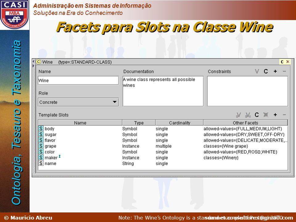 sumnet@microlink.com.br © Mauricio Abreusumnet.consultores@gmail.com Administração em Sistemas de Informação Soluções na Era do Conhecimento Facets pa