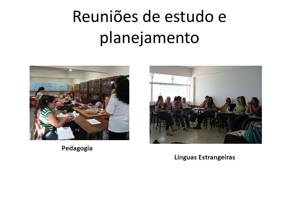 Reuniões de estudo e planejamento Pedagogia Línguas Estrangeiras